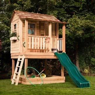 Casa de juegos amigable con el medio ambiente para niños