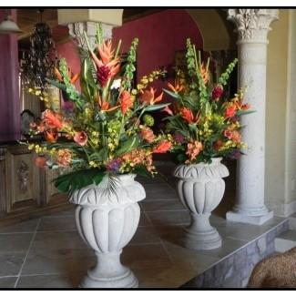 Grandes arreglos florales de seda