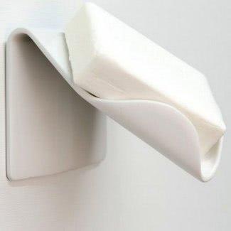Jabonera empotrada de cerámica para ducha