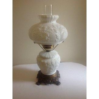 Diseño de flores de vidrio de leche vintage