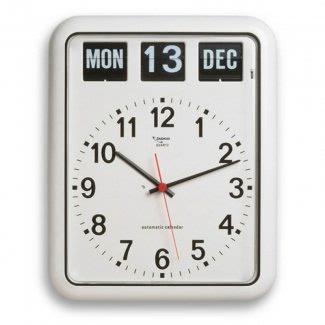Reloj de pared con fecha y día