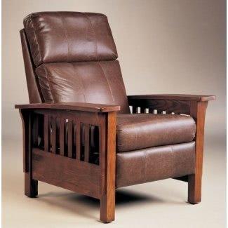 Sillón reclinable Montana Hi-Leg de Lane - Warm Oak Finish (2769)