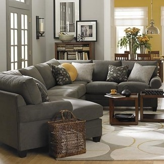 Sofá seccional gris antracita