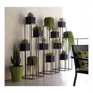 Soporte para plantas en niveles para interiores