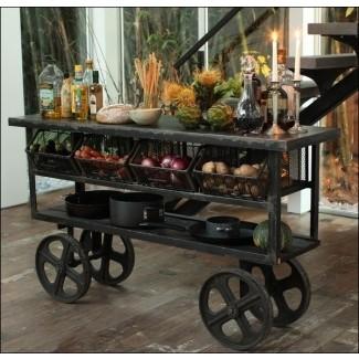 Carro de cocina rústico 4 [19659022] ❤️ </span></div> <p class=
