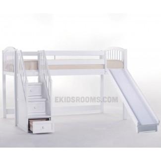 Cama litera baja alta con tobogán camas altas para niños