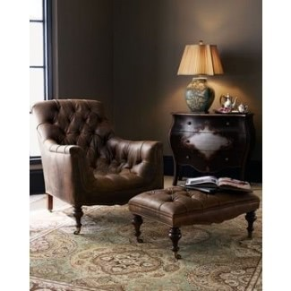 Sillón de cuero marrón vintage
