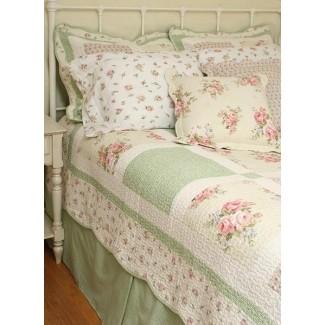 10 piezas de colchas de rosas rosadas primavera chic n shabby queen edredones