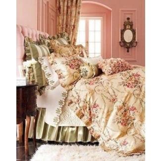 Ropa de cama Cosette Sábanas ajustables King juegos de sábanas tradicionales