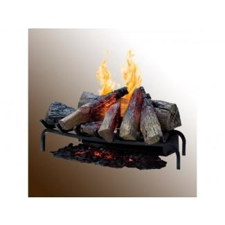 Ilusión de fuego y humo de esta estufa eléctrica