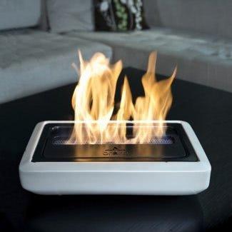 Estufa eléctrica para chimenea exterior