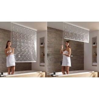 Cortinas de ducha para ventana de baño 1