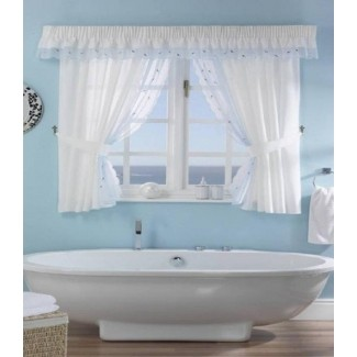 Cortinas de ducha de ventana de baño
