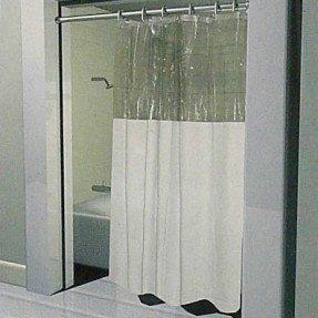 Cortina de ducha de vinilo para ventana
