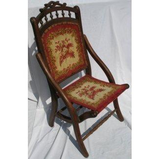 Silla tapiz plegable victoriana