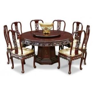 Elección del diseño de la mesa de comedor redonda para 8