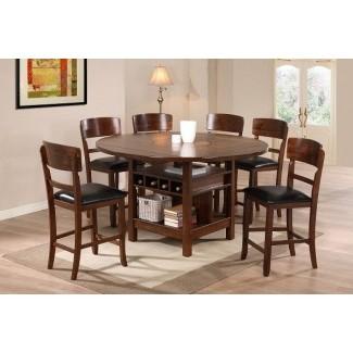 Mesa de comedor redonda para 8 personas