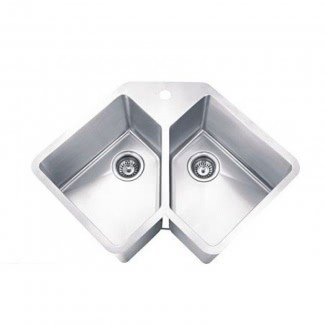 Fregaderos de esquina bajo encimera de acero inoxidable [19659022] ❤️ </span></div> <p class=