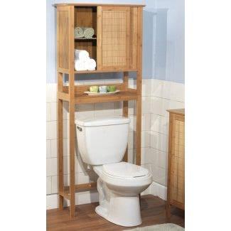 """Bambú 27.56 """"x 66.93"""" Sobre el gabinete del inodoro"""