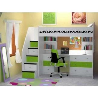 Literas con escritorio debajo 1