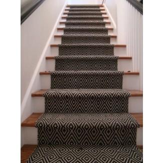 Peldaños de alfombra para escaleras de madera 1