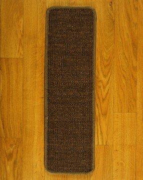 Escalera de alfombra marrón exótica (juego de 13)
