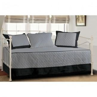 Juego de sofá cama de 4 piezas Brentwood acolchado marfil topo