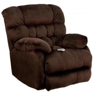 Sillón reclinable de microfibra con control de calor Sharpei Massaging