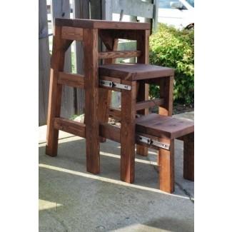 Escalón de madera taburetes