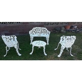 Mesas de patio de hierro fundido 10