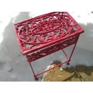 Mesas de patio de hierro fundido 8