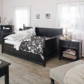 Sofá cama Casey de Fashion Bed Group - Negro - Completo, Madera, Completo / Doble