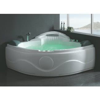 Bañera de esquina futurista con hidromasaje