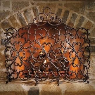 Mamparas decorativas para chimenea de hierro forjado jpg