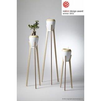 Soporte para plantas de madera para interiores 2