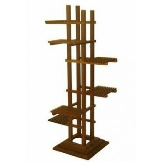 Soportes de madera para plantas de interior a la venta este soporte de plantas en niveles