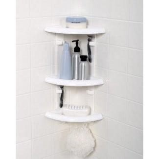 Estante de esquina de ducha de plástico [19659013] ❤️ </span></div> <p class=