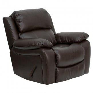 Mecedora reclinable de cuero