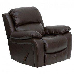Sillón reclinable mecedora de cuero