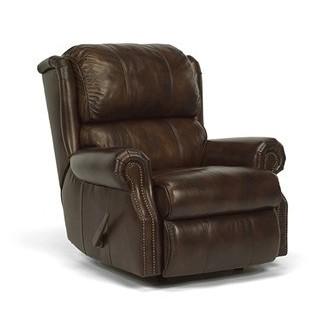Sillón reclinable mecedora de cuero flexsteel Comfort zone