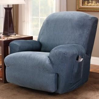Funda elástica para el sillón reclinable a rayas