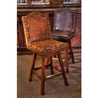 Taburetes de bar con forma de silla occidental