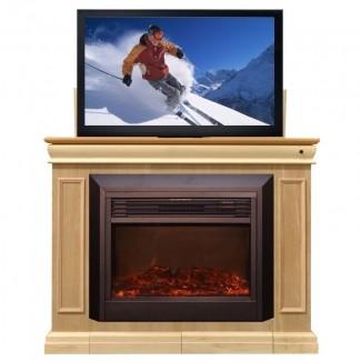 Mueble TV Touchstone conestoga 51 w elevable con chimenea eléctrica