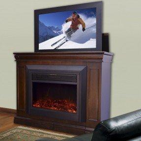 Soporte para TV Conestoga Lift con chimenea eléctrica