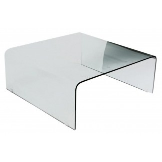 Mesa de centro grande cuadrada de vidrio 1