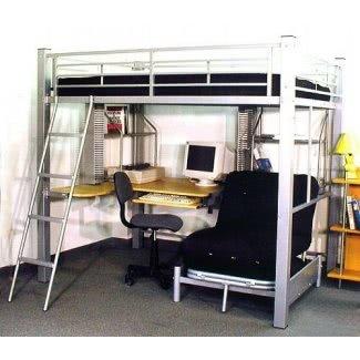 Litera de tamaño completo con escritorio 3