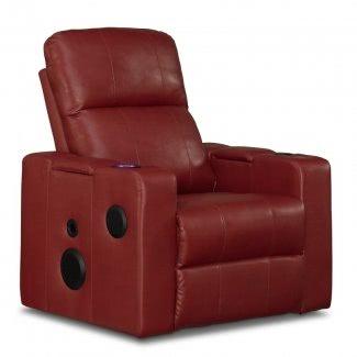 Sillón reclinable individual con portavasos