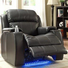 Jimmy Power con masaje, LED y sillón reclinable para portavasos