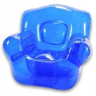 Silla hinchable Bubble, azul océano