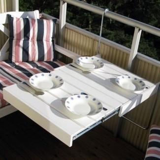 Mesa plegable para balcón